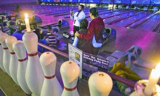 Bowlingpin menorah