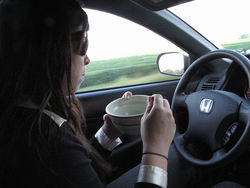 Driving eating