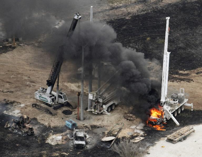 Pipeline explosion aerial